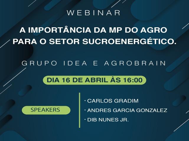 webinar MP do Agro e sua importância para o setor sucroenergético